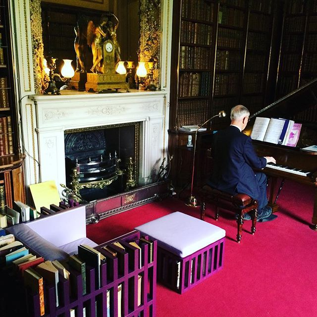 Superb #library #chair With Grand Piano Accompaniment...#posh For Sure But