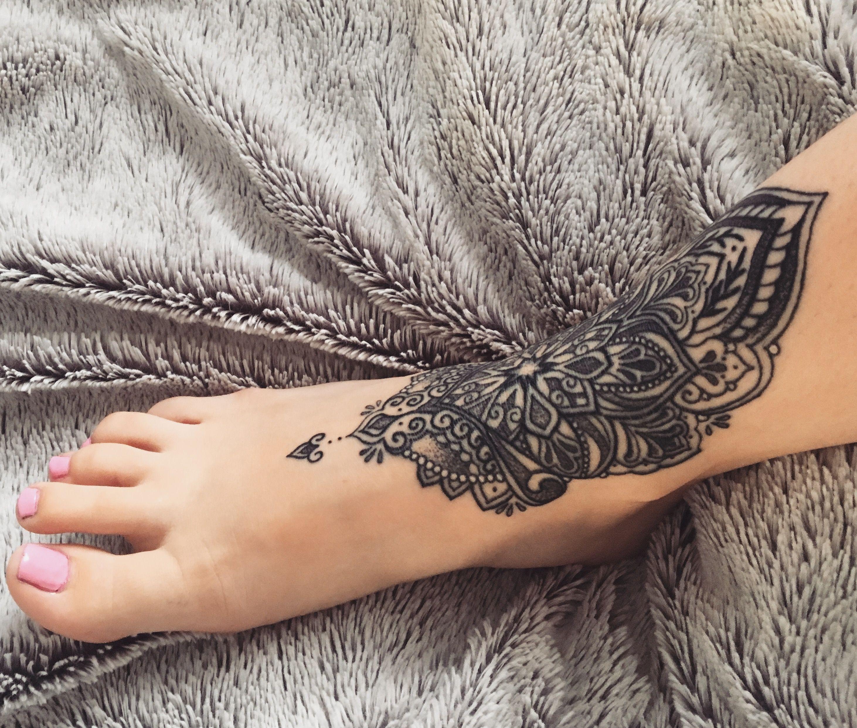 Mandala Tattoo Foot Tattoos Girls Ankle Tattoo Mandala Foot Tattoos