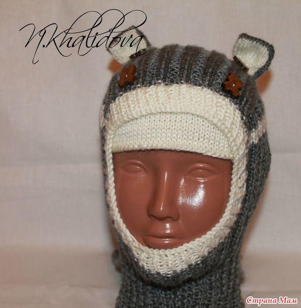 Шапка шлем вязание спицами мк 34