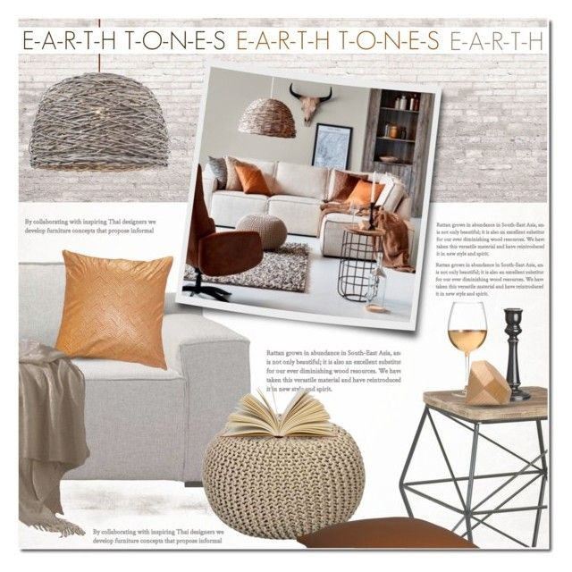 """""""Earth Tones Contest"""" by anna-anica ❤ liked on Polyvore featuring interior, interiors, interior design, home, home decor, interior decorating, H&M, WALL, Marc Blackwell and Areaware"""