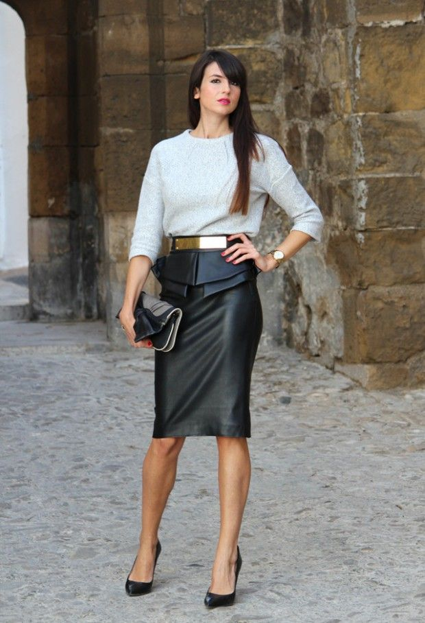 How to Wear Leather Skirt Outfit Tips – Designers Outfits ...