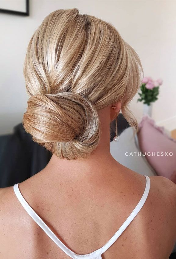 100 Prettiest Wedding Hairstyles For Ceremony & Reception #bunupdo