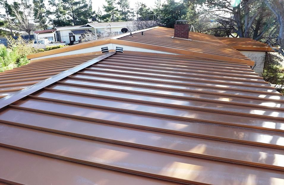 How Much Is A Standing Seam Copper Roof In 2020 Standing Seam Metal Roof Standing Seam Copper Roof