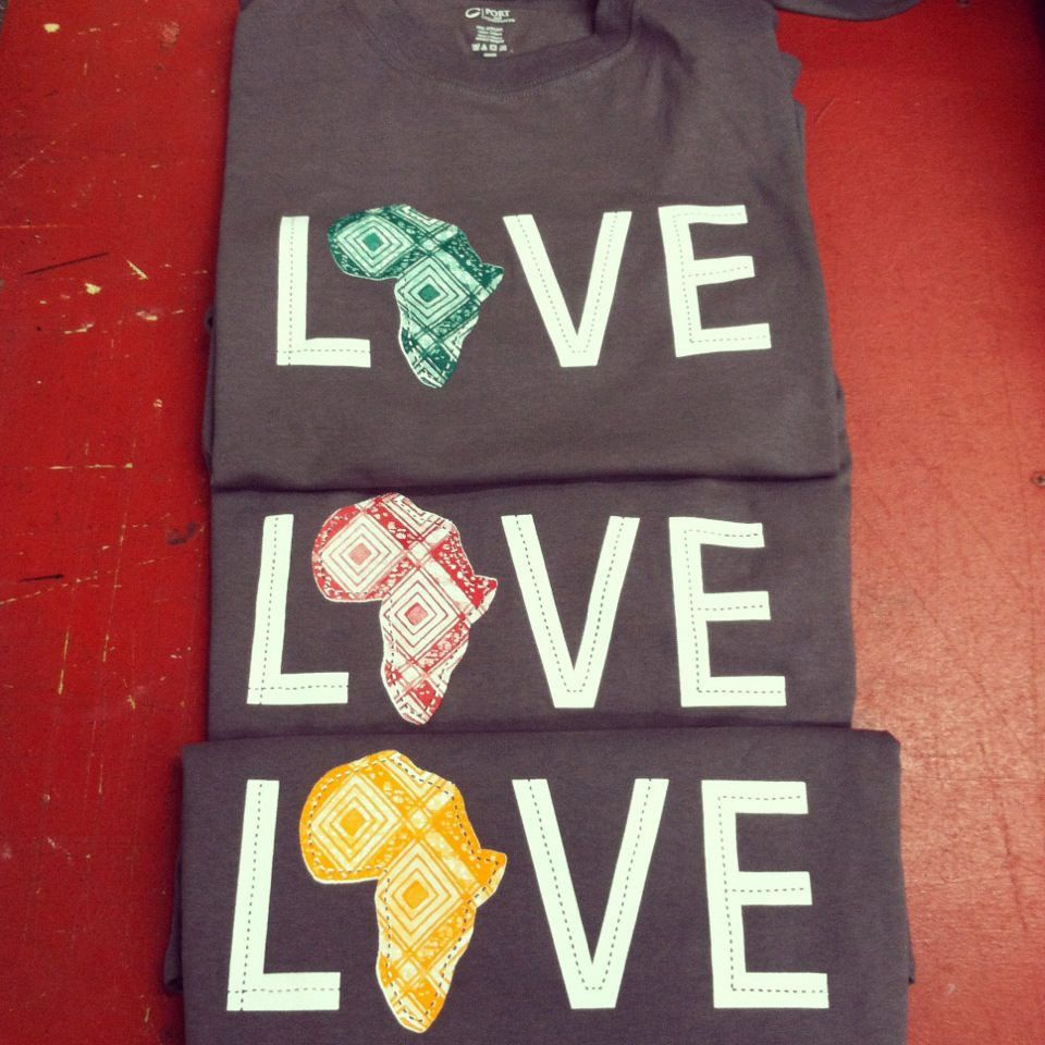 Shirt design mission tx - Love Africa T Shirt Large Orange