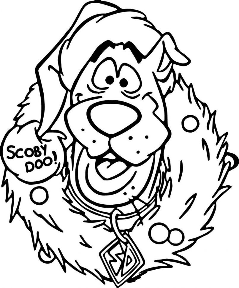 Desenhos Para Colorir Do Scooby Doo Christmas Coloring Sheets