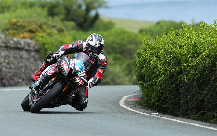 Download Wallpapers Michael Dunlop, 4k, Yamaha Supersport
