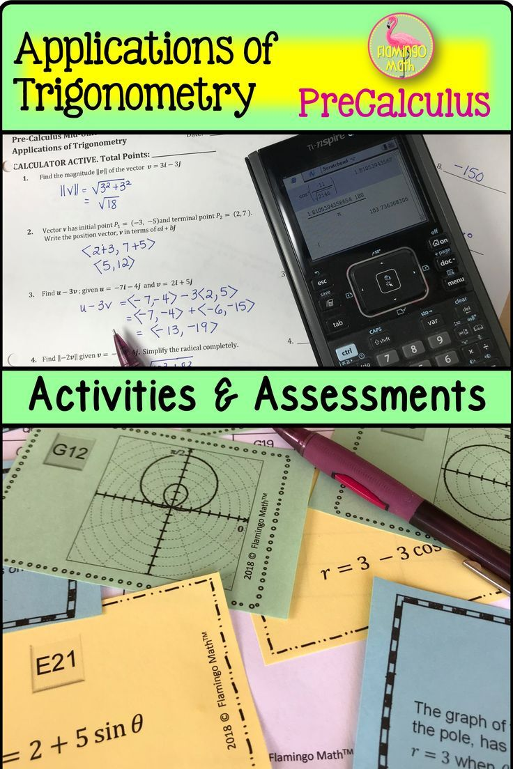 Applications of trigonometry activities assessments
