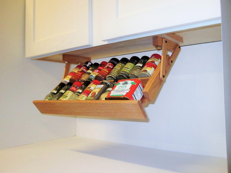 Creative Kitchen Storage Idea Under Cabinet E Rack