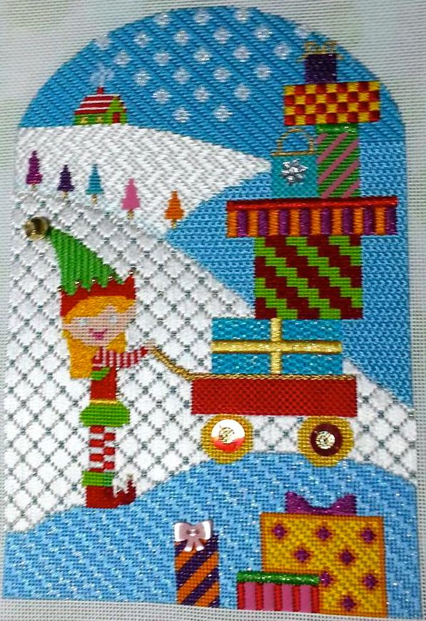 Package Delivery Elf by EyeCandy Needleart (needlepoint) | Beautiful ...