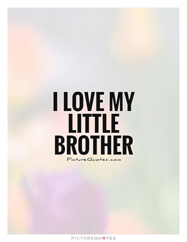 Brother Love Quotes I Love My Little Brotherbrother Quotes On Picturequotes