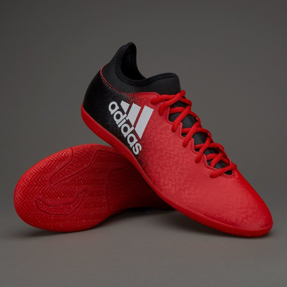 adidas X 16.3 IN - Red White Core Black   FUTSAL SHOES   Futsal ... 74fb0e53fa1