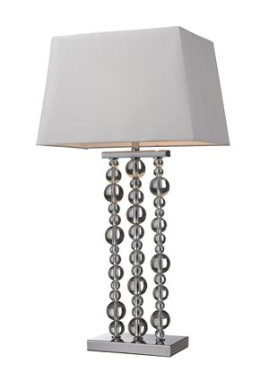 Nebraska furniture mart dimond belen crystal ball table lamp in chrome