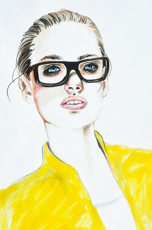 Girl in Glasses by Isis Marques, via Behance