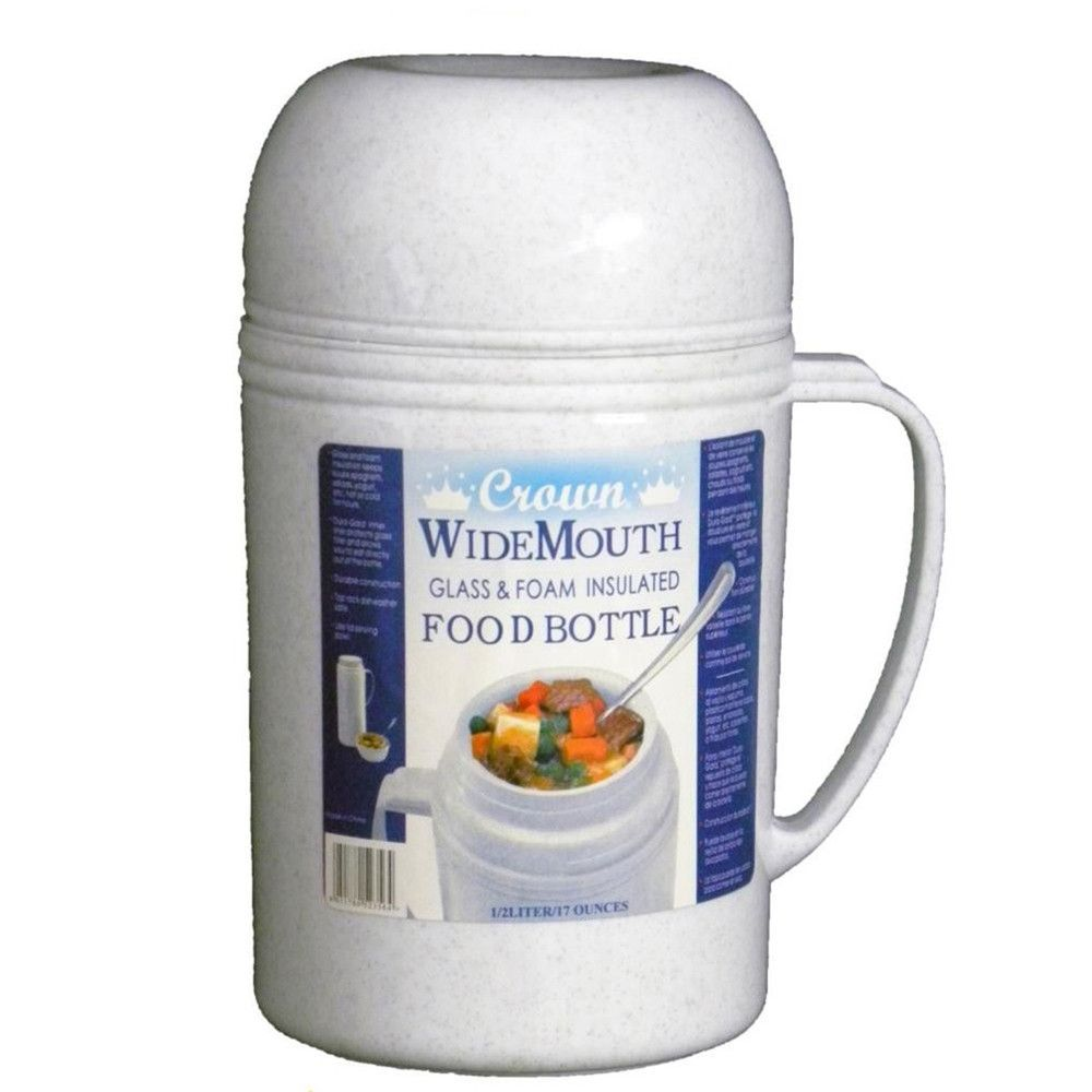 Brentwood 05l wide mouth glass vacuumfoam insulated food