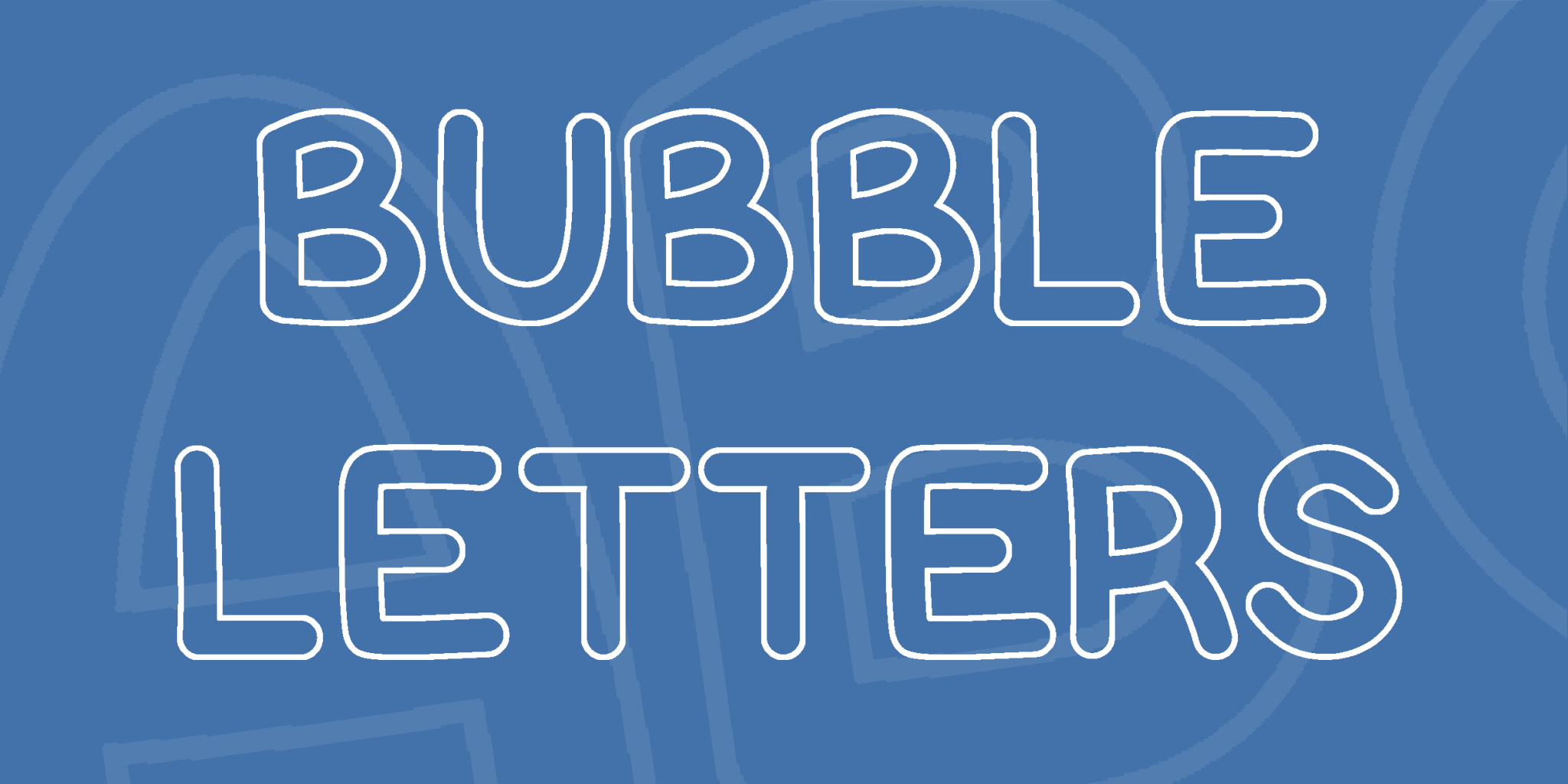 Bubble Letters Font Fonts
