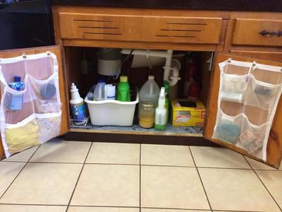 under kitchen sink cabinet organization ideas you can use - Under Kitchen Sink Storage Ideas