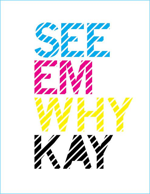 CMYK | Funny design, Book posters, Graphic design