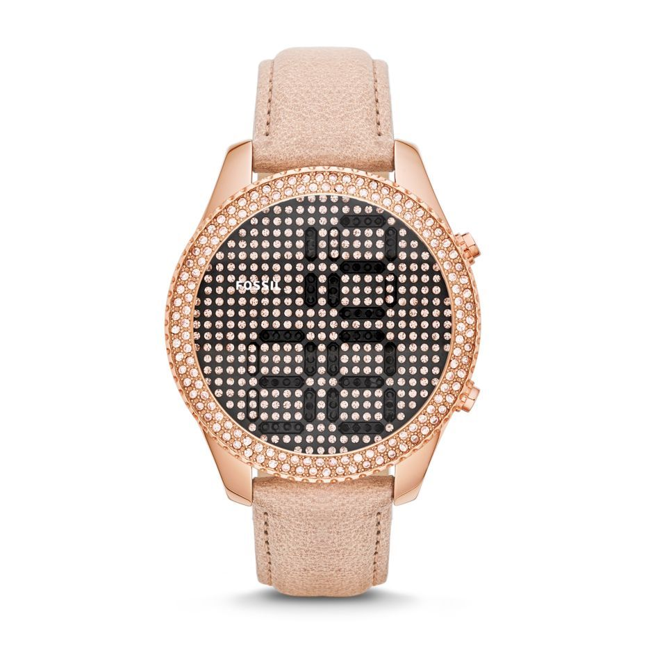 Womens leather digital watches
