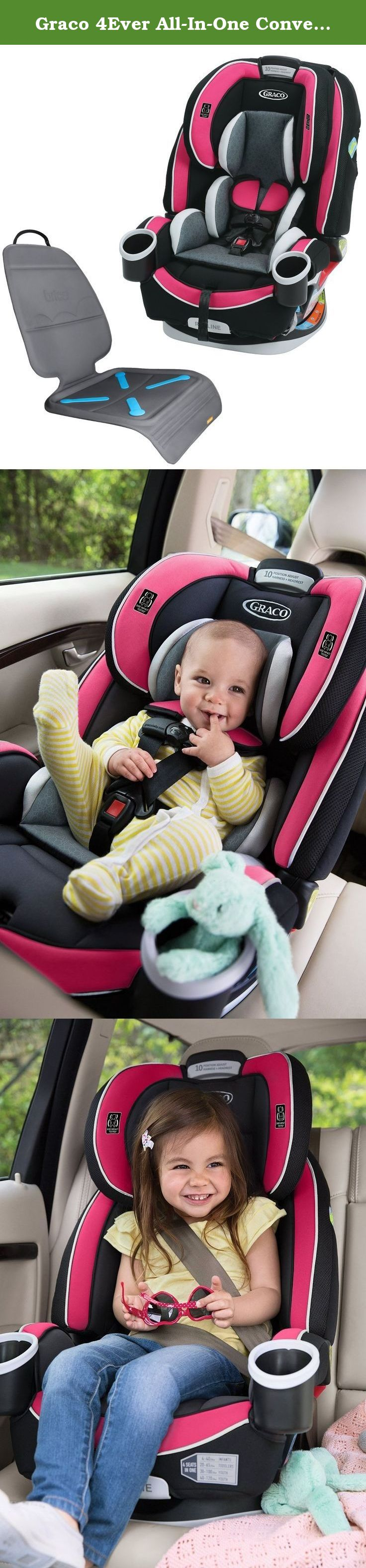 Graco 4Ever All In One Convertible Car Seat With Protector Azalea Gives You 10 Years
