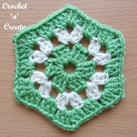 Crochet Granny Hexagon #shawlcrochetpattern