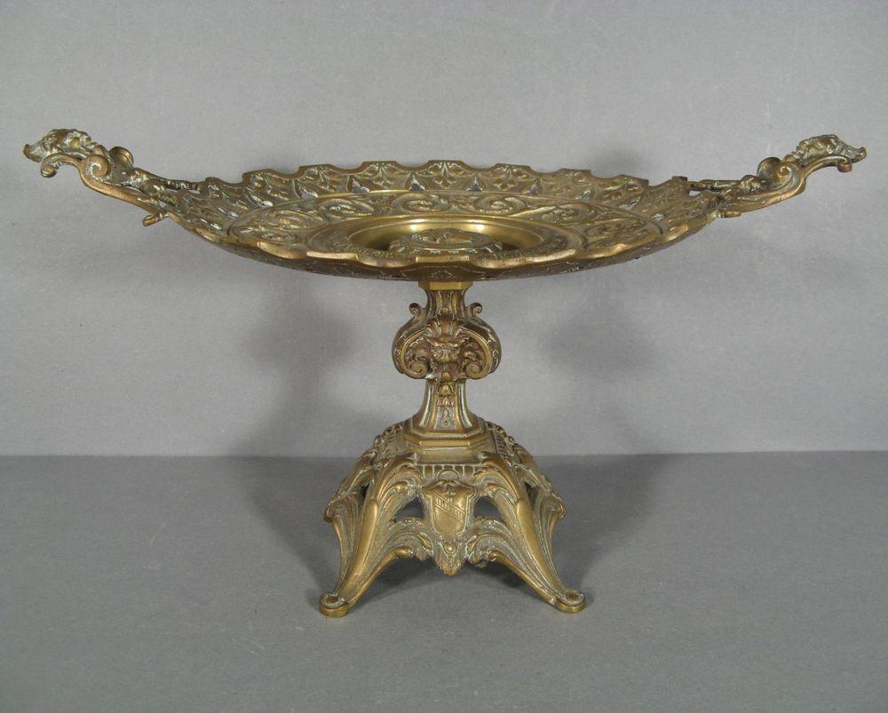 Centre De Table Ancien ancienne coupe en bronze style renaissance / centre de table