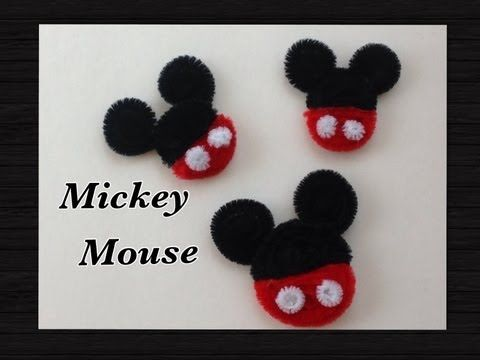 MICKEY MOUSE HECHO CON LIMPIA PIPAS