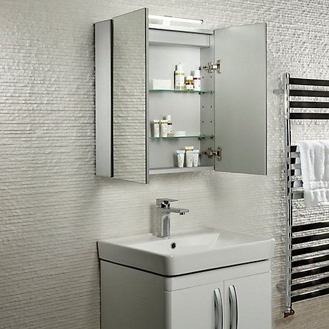 buy roper rhodes conduct illuminated double bathroom cabinet online at johnlewiscom - Bathroom Cabinets John Lewis