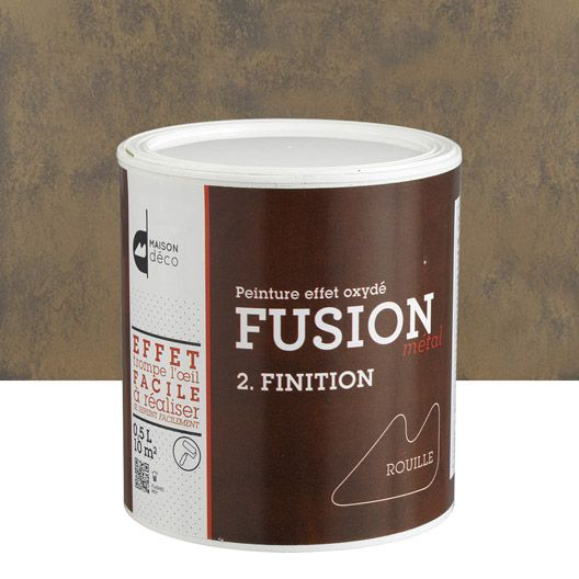 Peinture décorative Fusion métal MAISON DECO, effet rouille, 05 L