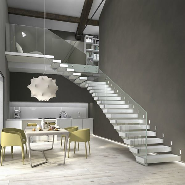 Scale interne a giorno con gradini a sbalzo autoportanti - Progettazione scale interne ...