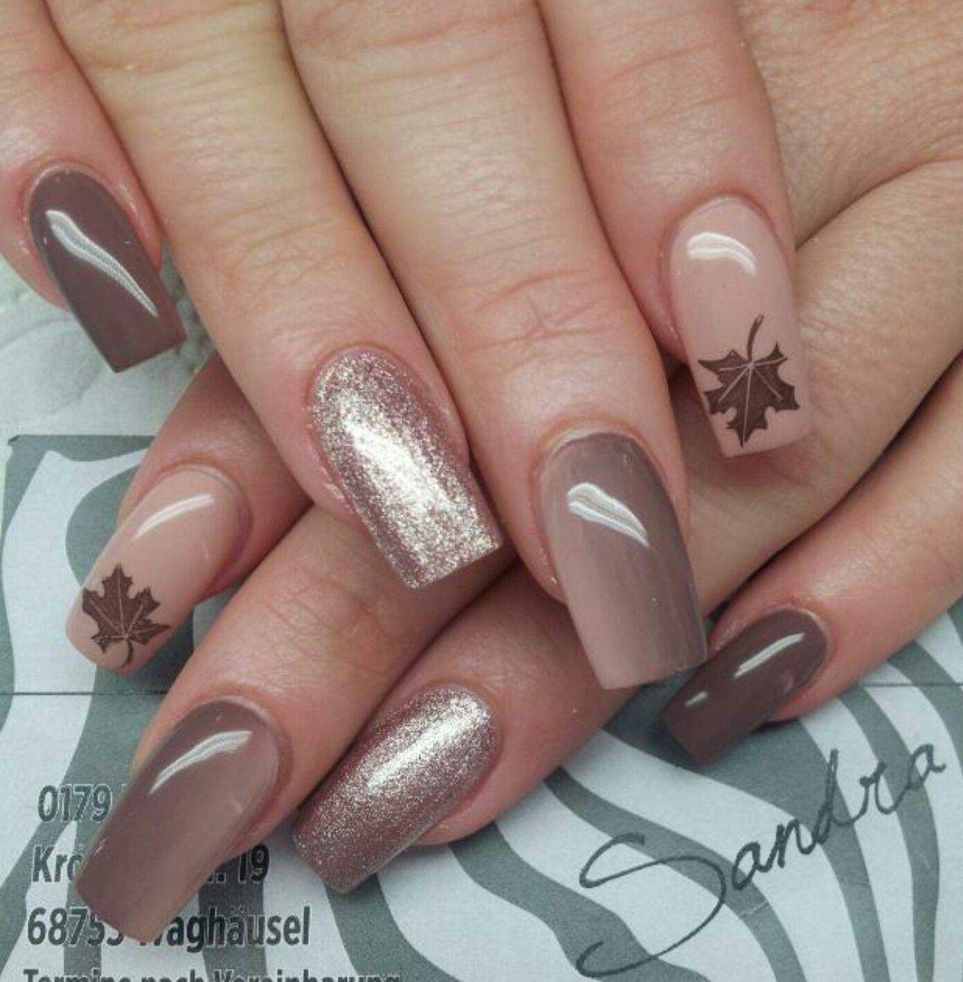 Nude/Braun Herbst | Nägel | Pinterest | Nagelschere, Nageldesign und ...