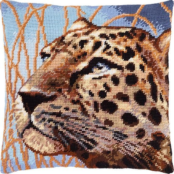 "Needlepoint//Tapestry Pillow Cover DIY Kit /""Horse/"""