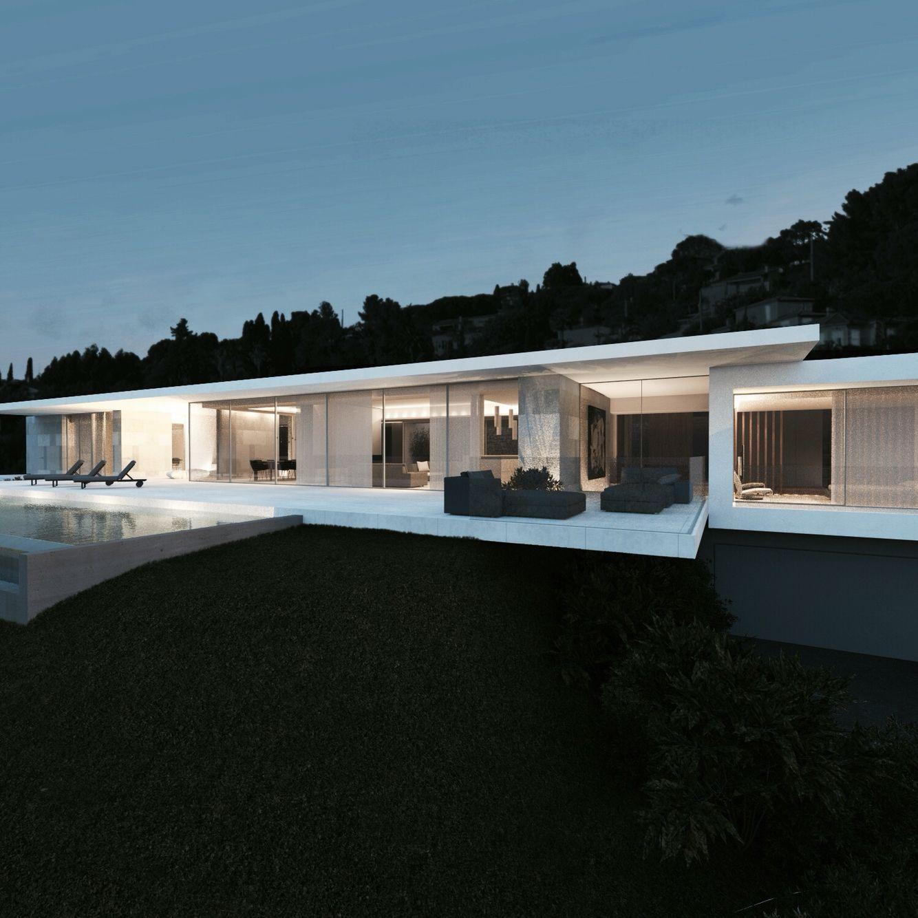 Villa design - Côte d\'Azur - a2-sb architectes   design archi en ...