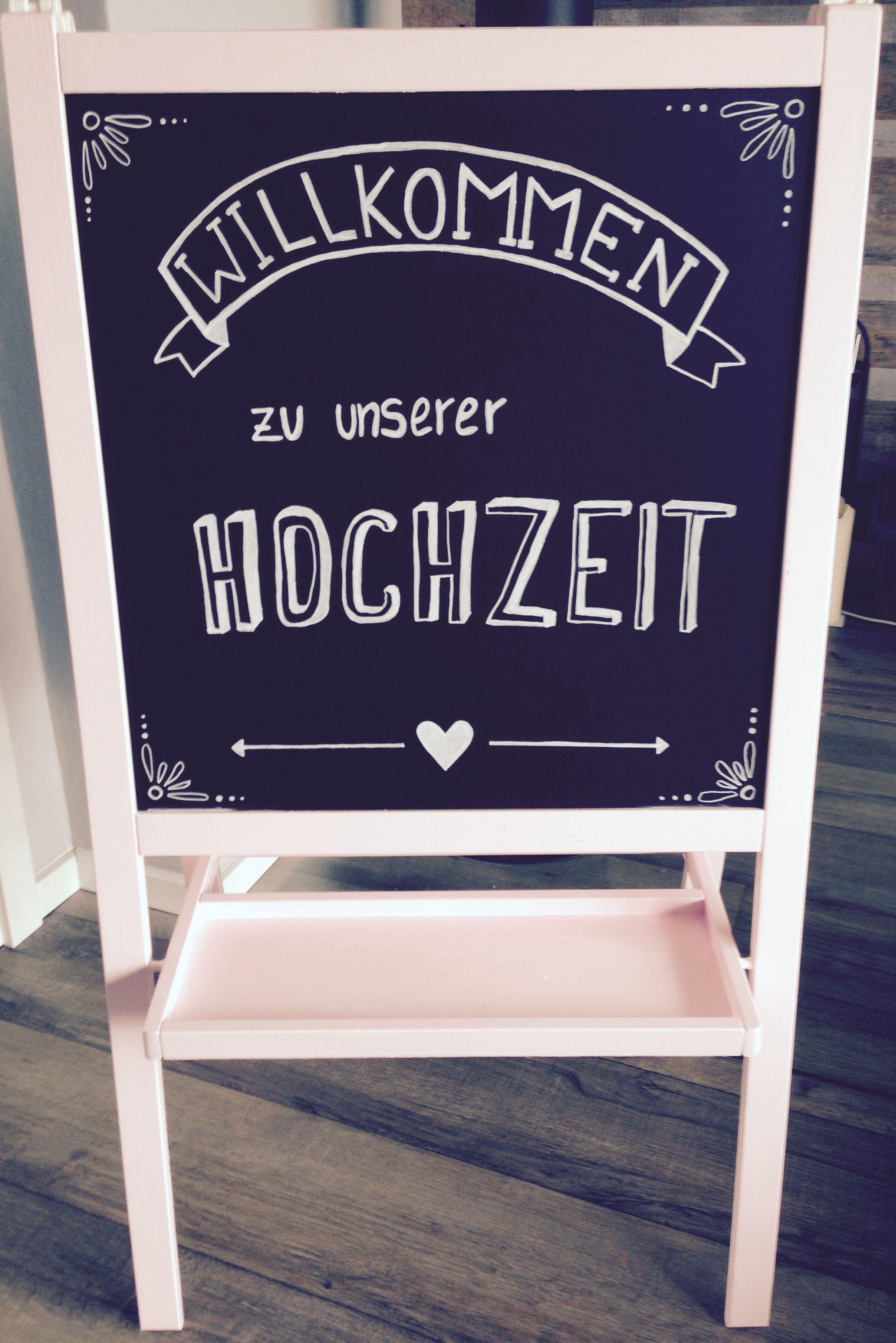 Ikea Tafel Herzlich Willkommen Zu Unserer Hochzeit Diy White In