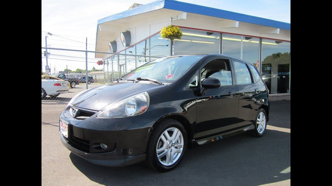 2007 HONDA FIT SPORT 4 DOOR HATCH 4495 Honda fit sport