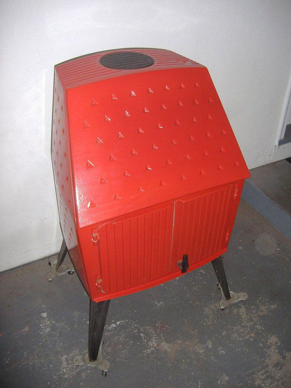 Morso 1125 Wood Stove Approx 1979 In Red Enamel