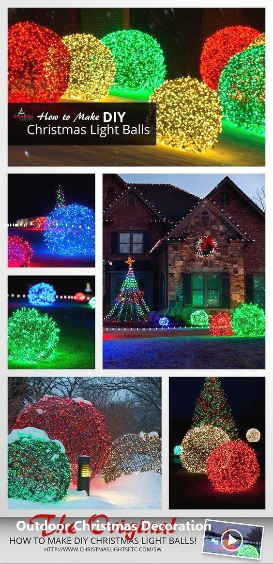 Outdoor Christmas Decoration 2020 Christmas lights etc
