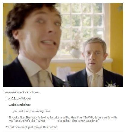 Selfie Sherlock :)