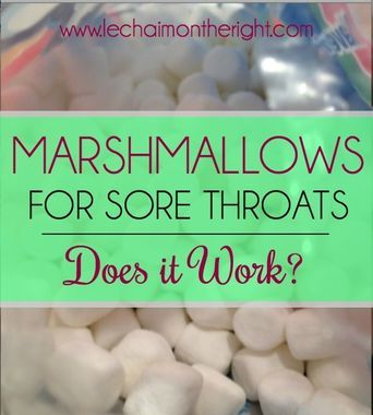 Marshmallows for a Sore Throat and 10 other genius medical hacks for moms! #geniusmomtricks