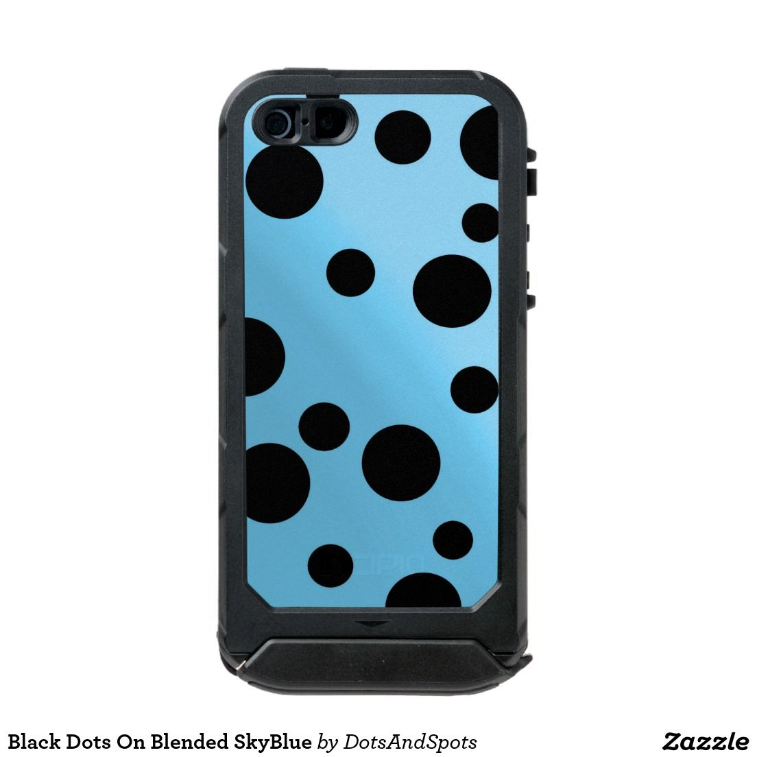 Black Dots On Blended SkyBlue Incipio ATLAS ID™ iPhone 5 Case