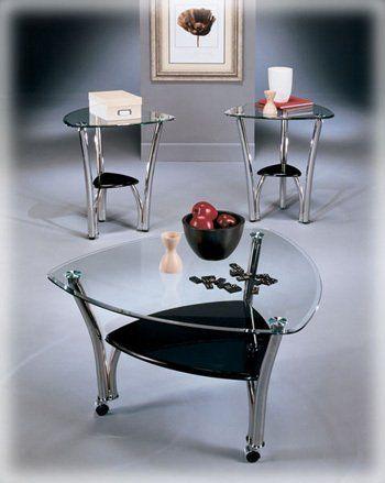 Chrome Piece Occasional Table Set Signature Design By Ashley - Signature design by ashley coffee table set
