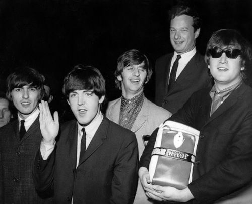 The Beatles with Brian ~ with the boys