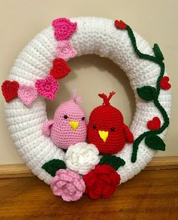 Photo of Reny's Place ….: Crochet a Valentine Wreath! Step by Step Instruct …