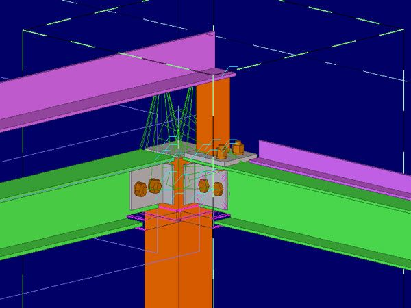 Our #SteelDetailingServices involves Structural Steel Detailing - new blueprint company saudi arabia