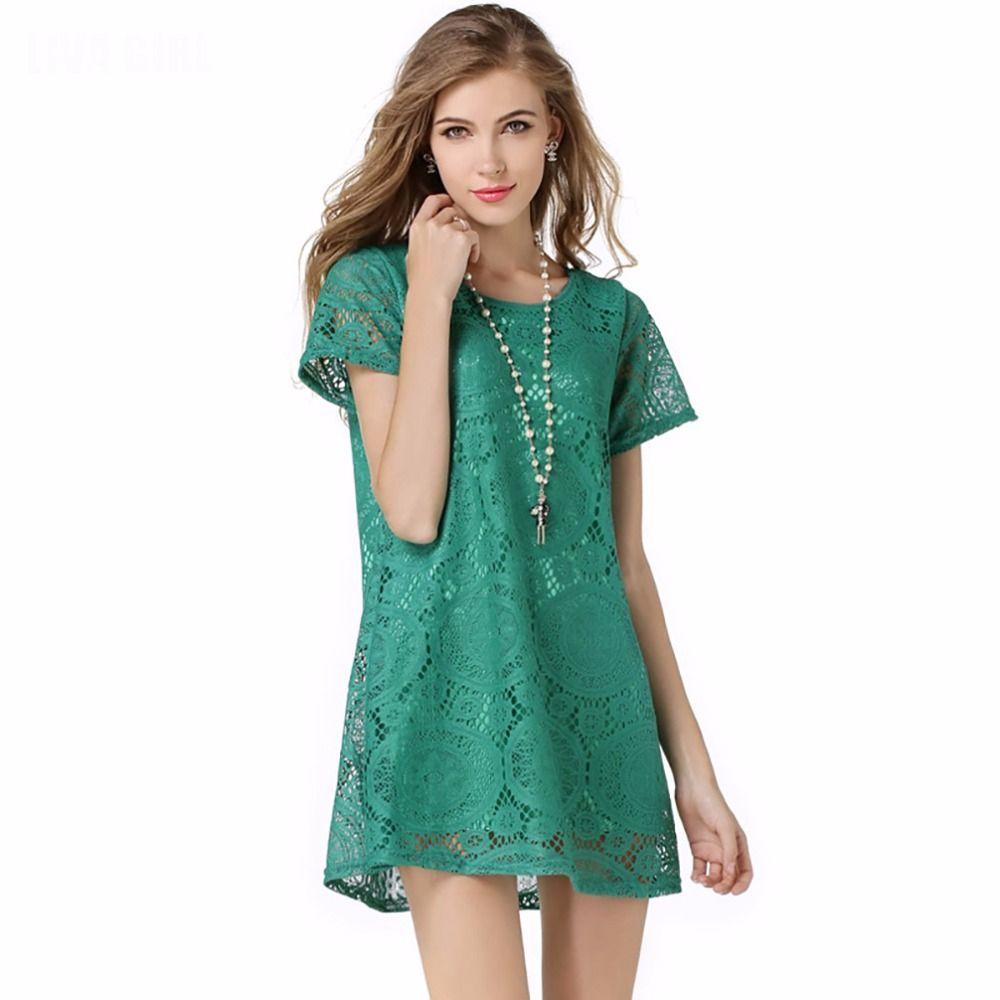 Tengo fashion brand women lace dress spring sexy crochet dress women