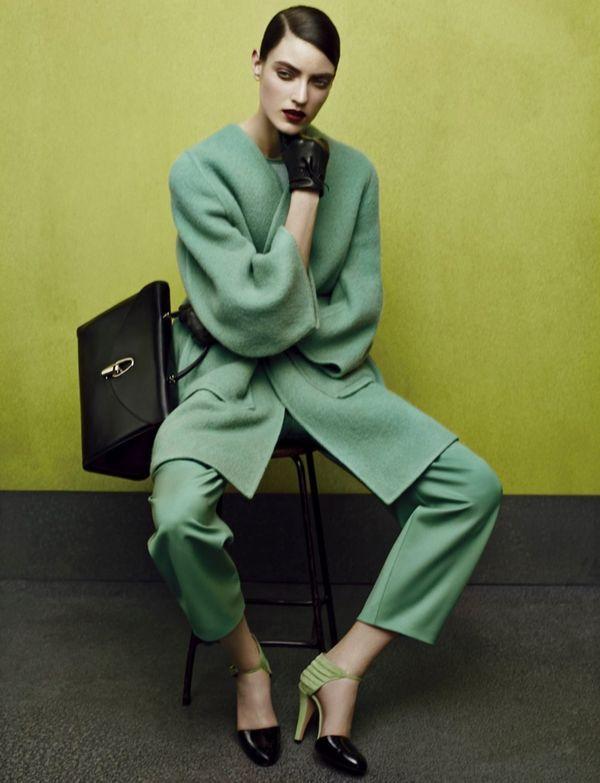 2f4567be40d9 Green-Accented Fashion Ads - The Giorgio Armani Fall 2014 Ad Campaign Stars Marikka  Juhler