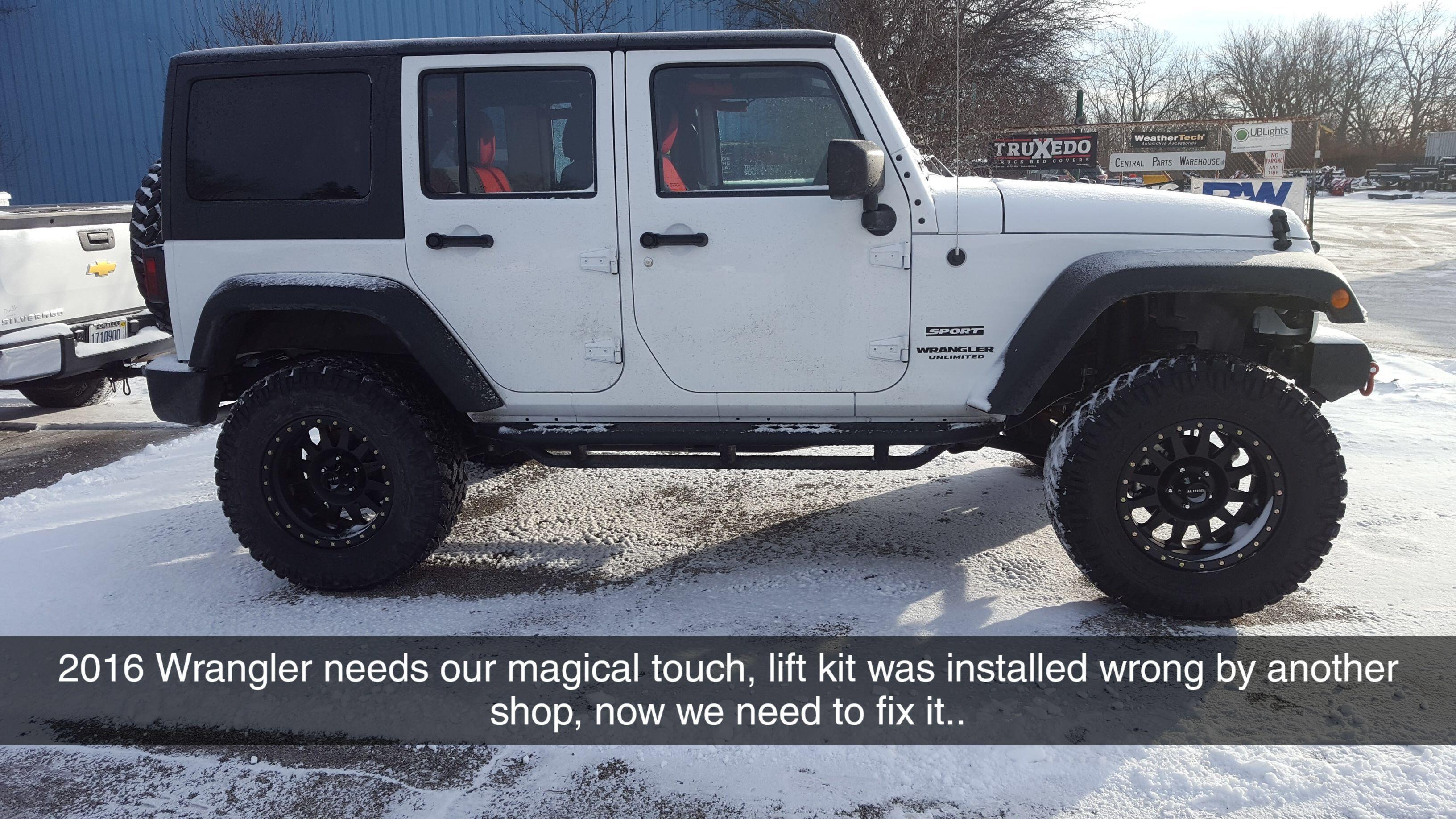 2016 Jeep Wrangler Had A Teraflex Lift Kit And An Old Man Emu Lift