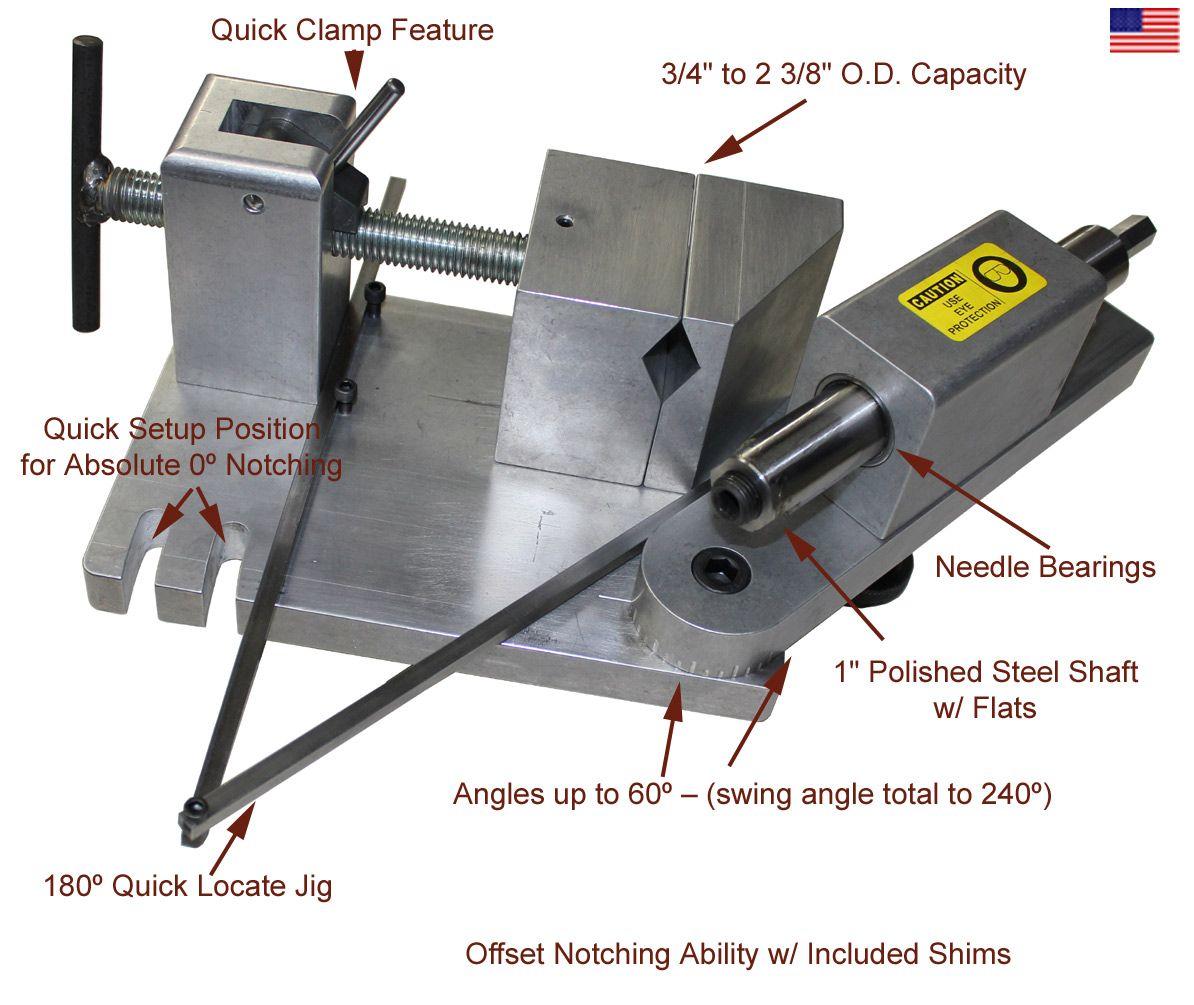 Sync180jr Tube Notcher Polished Steel Fabrication Tools Metal Fabrication Tools