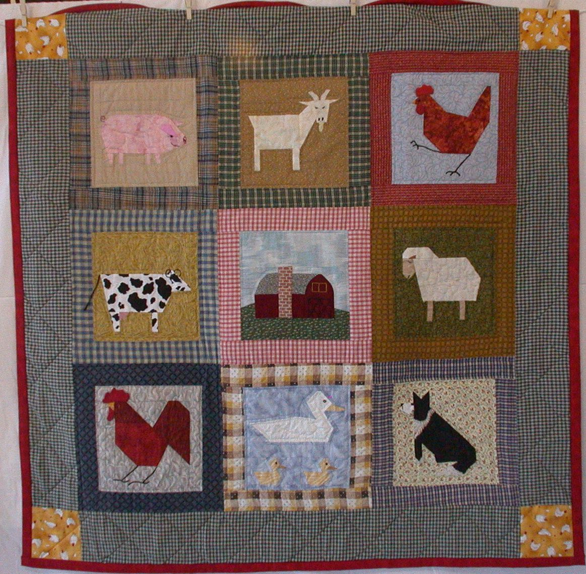 wildlife baby quilt patterns | Down On the Farm | Fabric