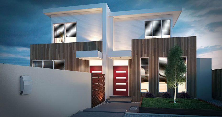 Dual occ home facades pinterest house facades for Dual occupancy home designs