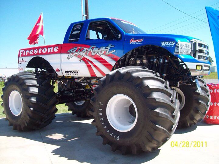 Red White And Blue Firestone Big Foot With Images Monster